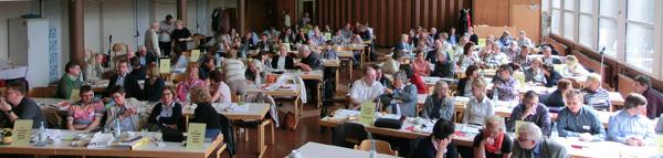 Die Wahl fand im Evangelischen Gemeindehaus Rotthausen statt. FOTO: KATHARINA BLÄTGEN